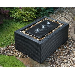 Decowall wicker 5 pour victoria 90 litres rectangulaire for Bassin pvc rectangulaire