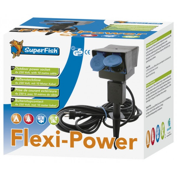 Multiprise Ext Rieur Flexi Power Avec Rallonge 8m